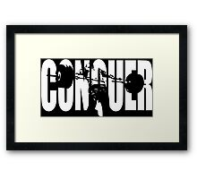 CONQUER (Weightlifting Iconic) Framed Print