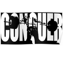 CONQUER (Weightlifting Iconic) Poster