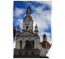 Catholic Church in Cotacachi Poster