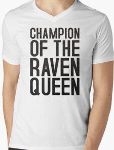 CHAMPION OF THE RAVEN QUEEN - (Black)  Mens V-Neck T-Shirt