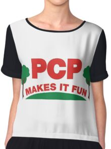 PCP Makes It Fun Leslie Knope Funny Design Chiffon Top
