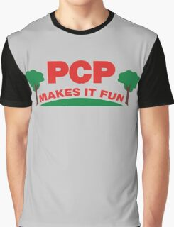 PCP Makes It Fun Leslie Knope Funny Design Graphic T-Shirt