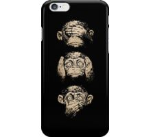 NoT see , noT speak, noT hear iPhone Case/Skin