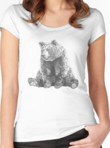 Lonely Bear Women's Fitted Scoop T-Shirt