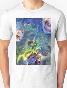 Constellation Crab Abstract Watercolor Painting Unisex T-Shirt