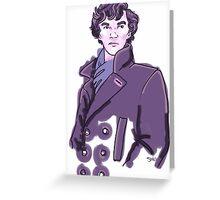 Purple Sherlock Greeting Card