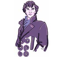 Purple Sherlock Photographic Print