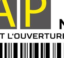 Destination Port au Prince Airport Sticker