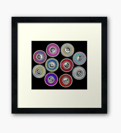 Graffiti Collective Framed Print