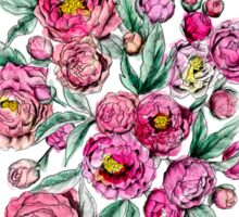 Peonies two pink Sticker