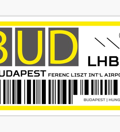 Destination Budapest Airport Sticker