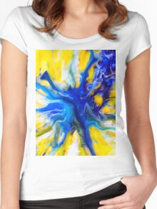 Blue Island Women's Fitted Scoop T-Shirt