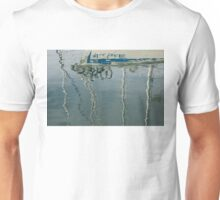 Water Play - Abstract Boat and Bicycle Reflections Unisex T-Shirt