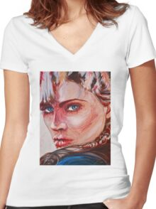 indy Women's Fitted V-Neck T-Shirt