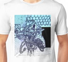A Blue Octopus Changing a Bulb Unisex T-Shirt