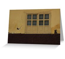 Yellow Shuttered Window Greeting Card
