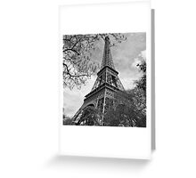 Eiffel Black and white Greeting Card