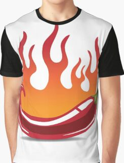 Flaming hot pepper Graphic T-Shirt