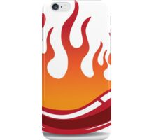Flaming hot pepper iPhone Case/Skin