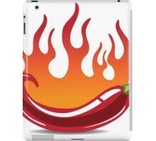 Flaming hot pepper iPad Case/Skin