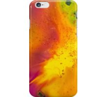 watercolor abstraction painting - orange energy iPhone Case/Skin