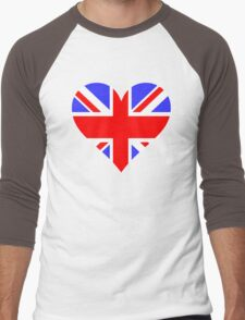LOVE BRITAIN Men's Baseball ¾ T-Shirt