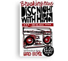 DISC NIGHT WITH HIPHOP Canvas Print