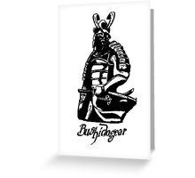 """Bushidogear"" Artwork by Carter L. Shepard""  Greeting Card"