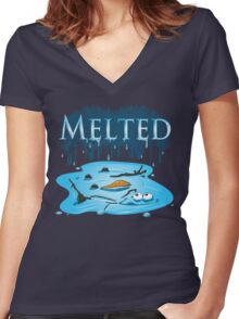 Melted Women's Fitted V-Neck T-Shirt