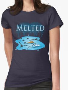 Melted Womens Fitted T-Shirt
