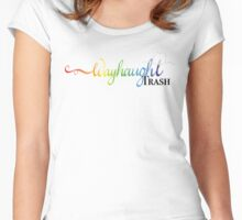 WayHaught Trash Women's Fitted Scoop T-Shirt