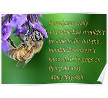 Shh! Bees can't fly Poster