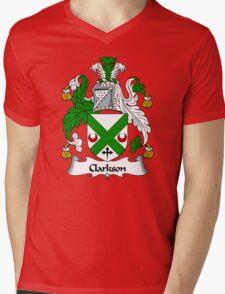 Clarkson Coat of Arms / Clarkson Family Crest Mens V-Neck T-Shirt