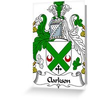 Clarkson Coat of Arms / Clarkson Family Crest Greeting Card