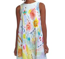 The Grand Bouquet A-Line Dress