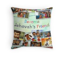 Become Jehovah's Friend - Caleb and Sophia Snapshots Throw Pillow