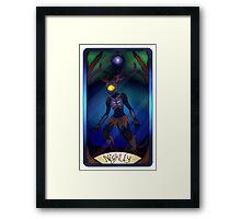 Nightly Tarot card Framed Print