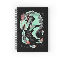 Sea Dragon -- Partial Color Spiral Notebook