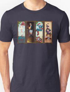 Avengers Stretching Portraits Unisex T-Shirt