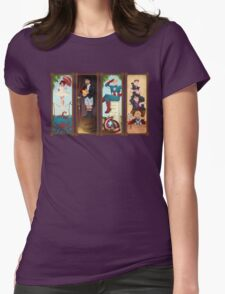 Avengers Stretching Portraits Womens Fitted T-Shirt