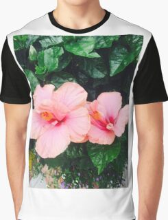 Pink Hibiscus Graphic T-Shirt