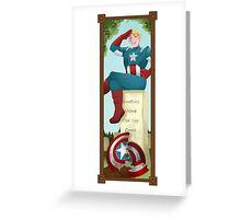 Haunted Avengers: Captain America Greeting Card