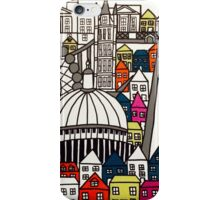 London Landmarks Sketch Colour 1 iPhone Case/Skin