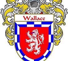 Wallace Coat of Arms / Wallace Family Crest by William Martin