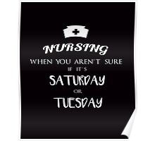 Nursing funny quotes vintage graphics Poster
