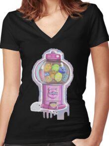 HamsterCandyMachine Women's Fitted V-Neck T-Shirt