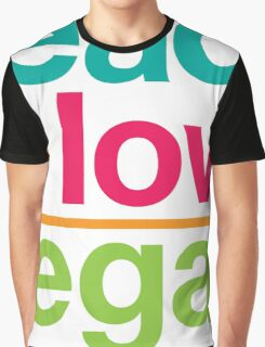 peace + love = vegan Graphic T-Shirt