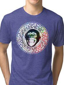 Rainbow colored Monkey / Philip DeFranco Show Logo Tri-blend T-Shirt