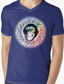 Rainbow colored Monkey / Philip DeFranco Show Logo Mens V-Neck T-Shirt