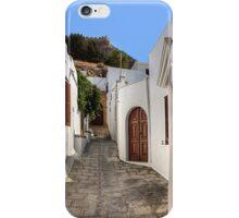 Residental Street in Lindos iPhone Case/Skin